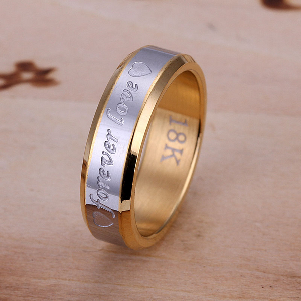 fashion Promotion 18K gold Plated Ring, Eternal love Ring 925 silver ring fashion jewelry Forever Love Ring-For Men Wholesale(China (Mainland))