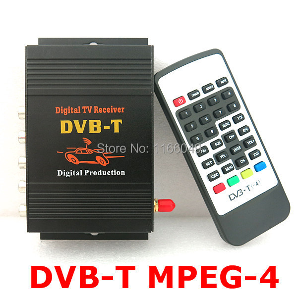 CAR DVB-T MPEG-4 MOBILE DIGITAL TV TUNER Receiver, 4way AV out put ,For Europen countries(China (Mainland))