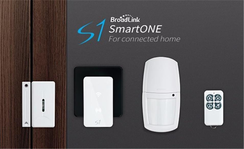 New Arrival Broadlink S1S1C SmartOne Alarm&Security Kit For Home Smart Home Alarm System IOS Android DoorWindow Sensor RF433-7