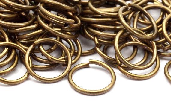 100 pcs 10 x 1mm Antique Brass Jump Ring(China (Mainland))