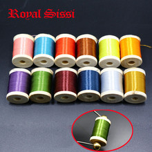 12 basic colors assorted fly tying thread 8/0 highly waxed thread set 250yd per spool 75Denir polyester filaments finest threads(China (Mainland))