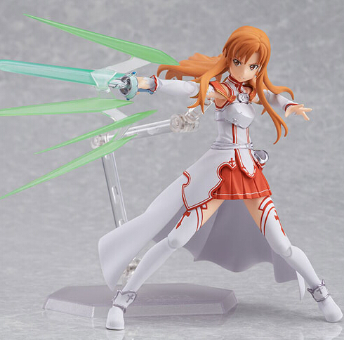 Anime sword art online Figma178 Yuuki Asuna sao new PVC Action Figure Collection Model Toys Doll 15cm - Lucy store