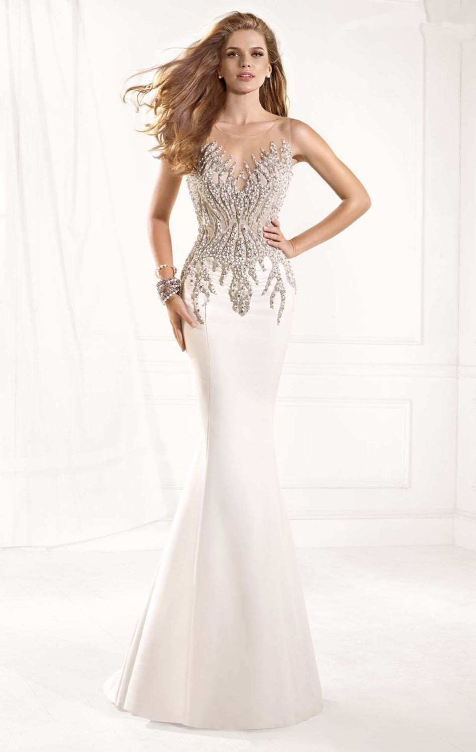aliexpresscom buy elegant white mermaid long prom