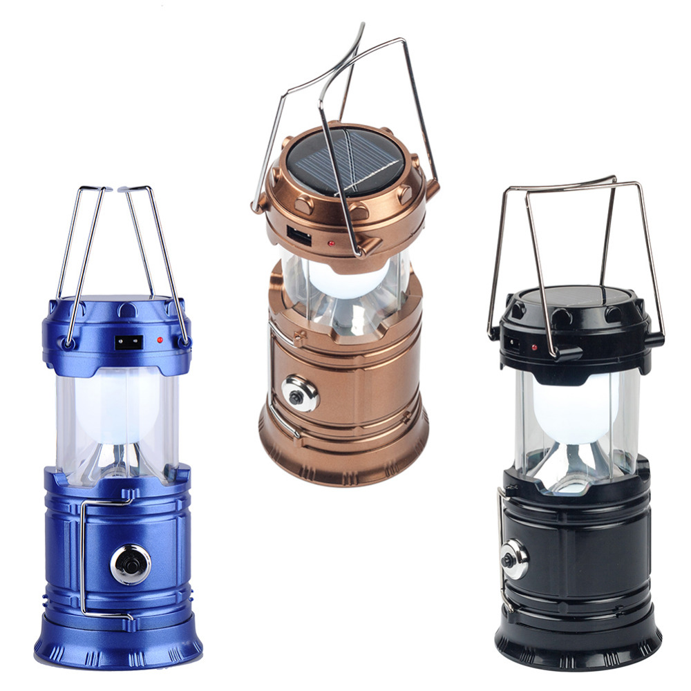 Classic style 6 LEDs Rechargeable Hand Lamp Collapsible Solar Camping Lantern Tent Lights for Outdoor Lighting Hiking Camping(China (Mainland))