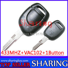(5pcs/Lot) For Renault Clio Kangoo Twingo 1 Button Remote Key Fob