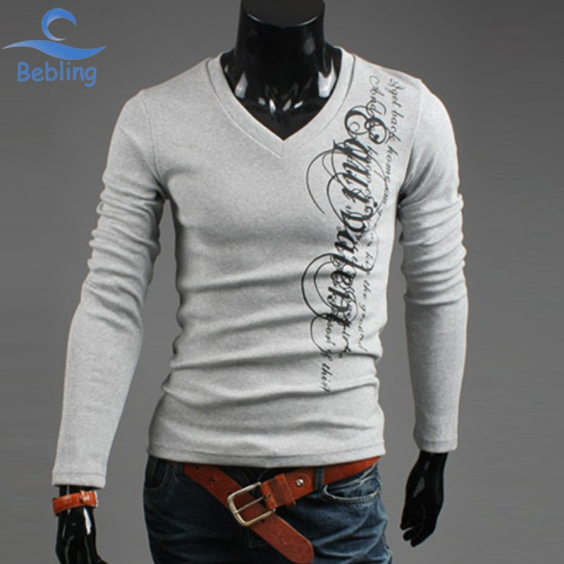 Bebling european letter print long sleeve tee shirts 2015 for Good quality long sleeve t shirts