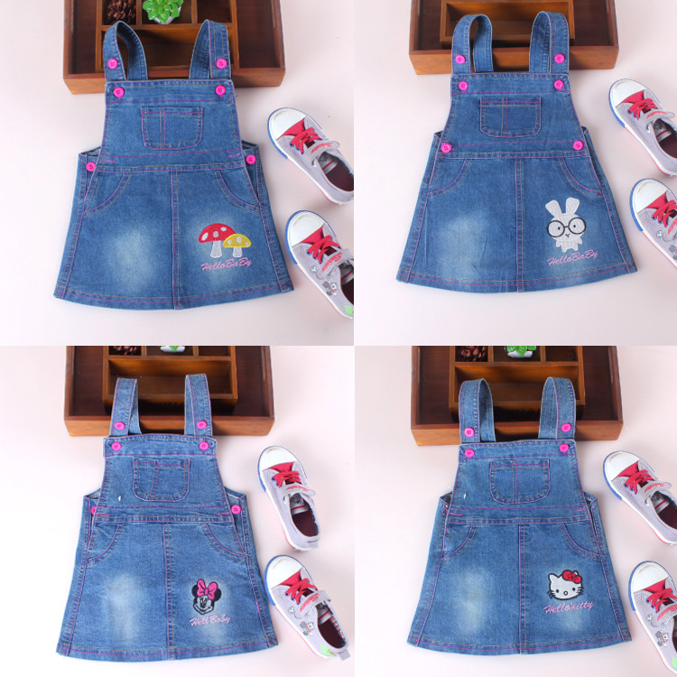 children clothing 2015 spring summer new brand little girl dresses infant baby toddler girl clothing discount kid jeans overalls(China (Mainland))