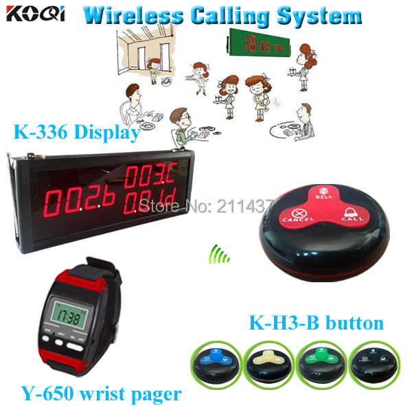 Sample order Free Shipping Restaurant Wireless Calling System Wireless Call Waiter System(China (Mainland))