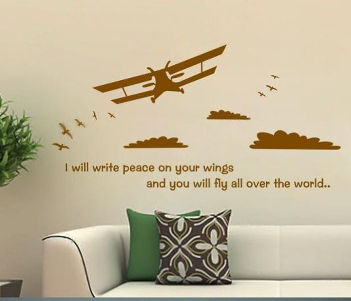 2015 sale hot sale diy airplane wall sticker for living for Decoration murale islamique