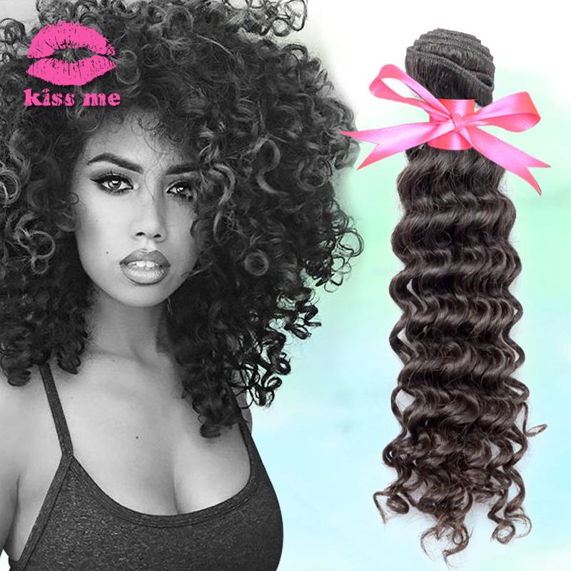 Cheap brazilian deep wave remy human hair extension 100 brazilian hair, good quality brazilian virgin hair deep curly hair(China (Mainland))