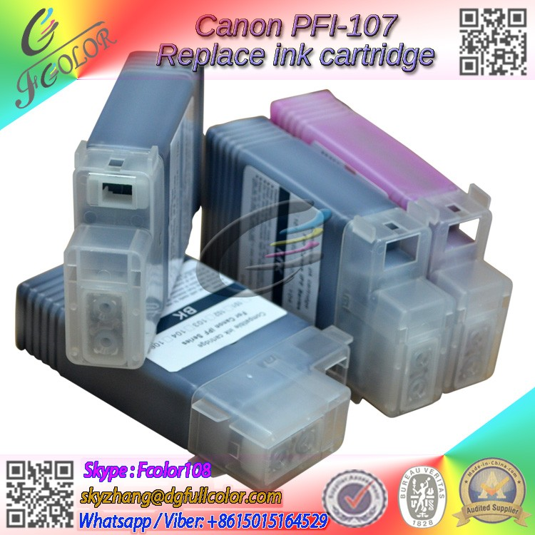 Replacement for Canon PFI-107 ink tank Compatible IPF670 IPF680 IPF685 IPF770 IPF785 Printer inks<br>