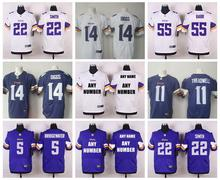 Stitiched,Minnesota Vikings,Teddy Bridgewater Kyle Rudolph Harrison Smith Adrian Peterson,Cordarrelle Patterson customizable()