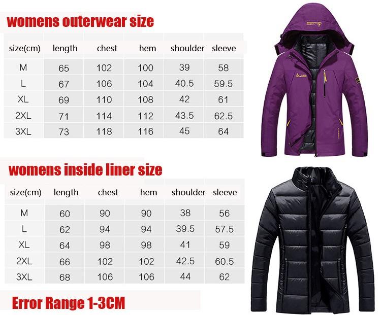 Скидки на 2016 новая зимняя куртка мужской/женский пуховик Водонепроницаемый ветрозащитный отдых куртка Плюс толстый бархат Теплое пальто куртка М-6XL
