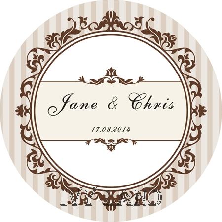 Compra etiquetas personalizadas de bodas online al por - Pegatinas para la pared ...