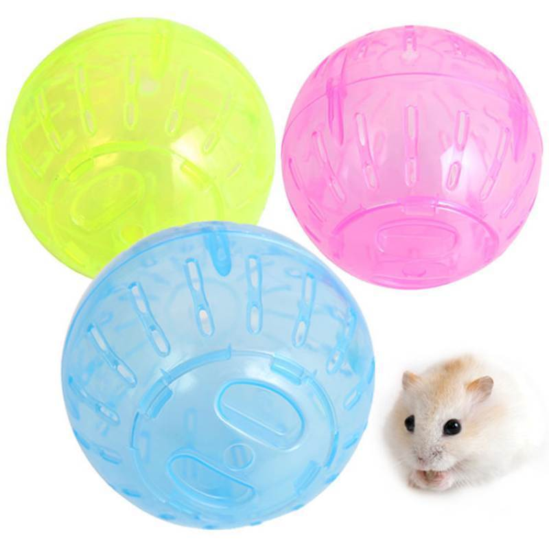 Colorful Pet Playing Cage Toy Hamster Gerbil Rat Plastic Exercise Small Mini Ball 2016 High Quality(China (Mainland))