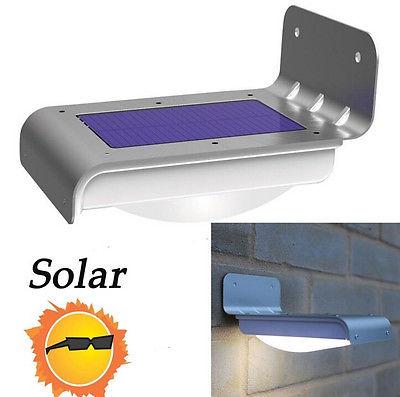 16 led solar power motion sensor lamp garden security light outdoor. Black Bedroom Furniture Sets. Home Design Ideas