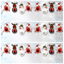 9pcs Christmas Decoration The Santa Claus/Snowman/Deer Honeycombs Trees Ornaments Hanging Paper Party Home Supplies Christmas(China (Mainland))