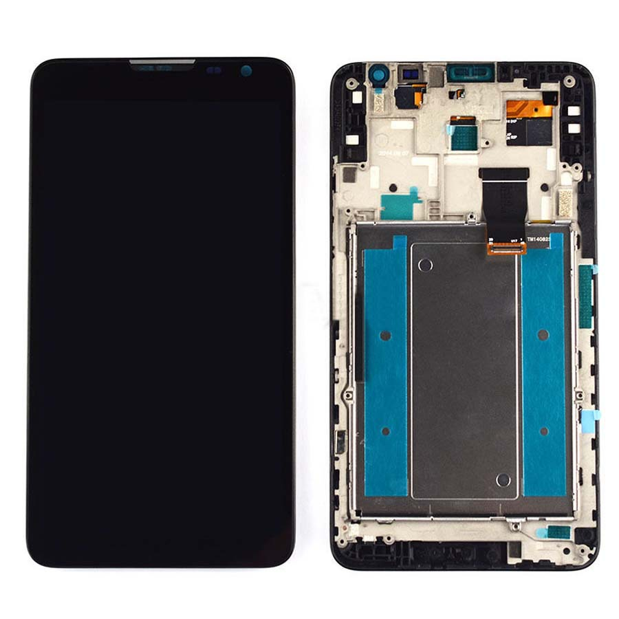 +Frame Black LCD Display + Touch Screen Digitizer Assembly Replacement For Huawei Ascend Mate 2 Free Shipping