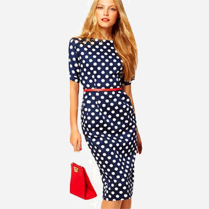 Фото платье горошек