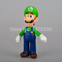 "New Super Mario Bros 5"" LUIGI Mario Action Figure Toy Green Hat Super Quality wr(China (Mainland))"