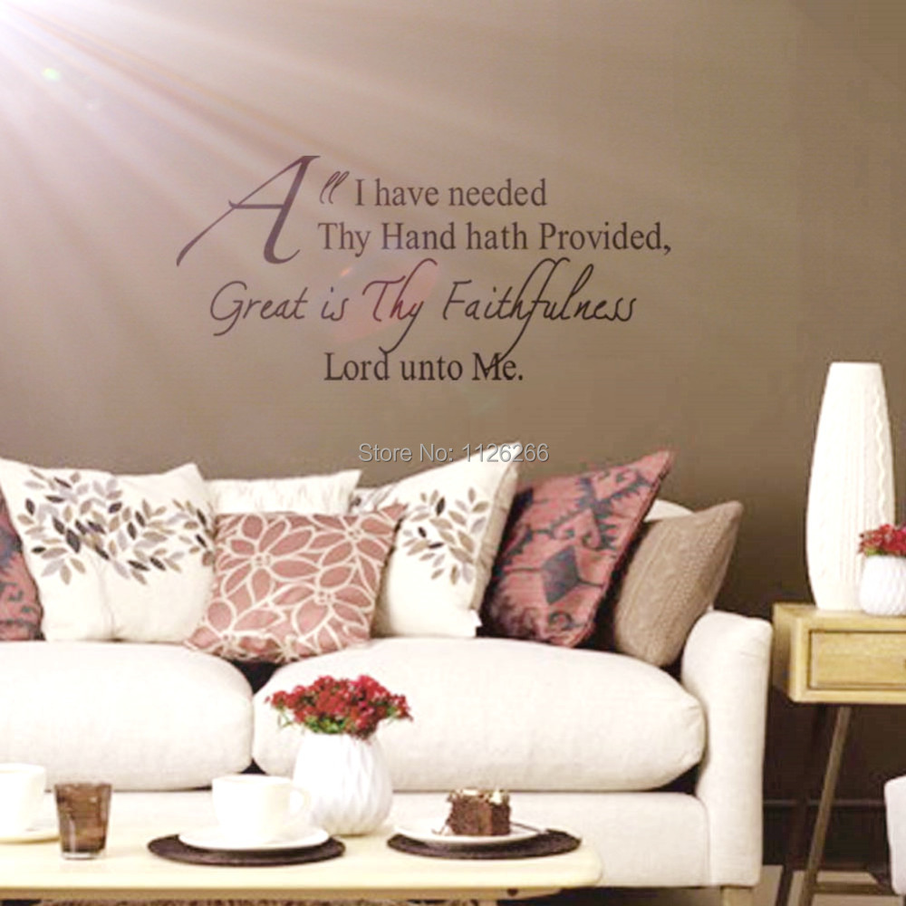 Buy Christian Wall Decals Quotes Great Is Thy Faithfulness Lord Unto Me Vinyl