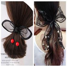 2016 high-grade pearl cute lace bow hair band hair accessories for women scrunchy hair band