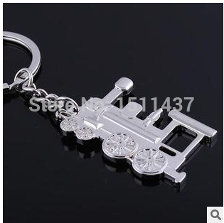 Hot Sale Creative Item Train trinket Keychain Metal Key Sets Zinc Alloy Keychain For Personalized custom gift Laser engraving(China (Mainland))