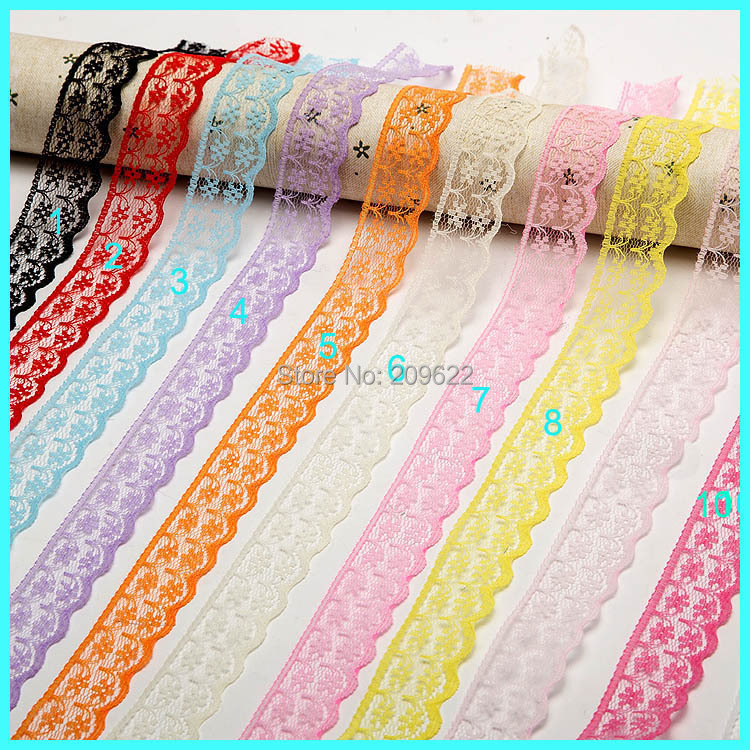 22MM Width Embroidered Lace Trimming Wedding Appliques,Embroidery Lace Fabric, 100Yards/Lot,Free Shipping (LC-10)