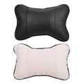 1 pcs High Quality Winter Perforating Design leather Hole digging Pillow Car Headrest Supplies Neck Auto