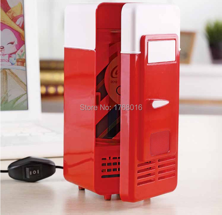 Desktop Beverage Cooler ~ Mini portable desktop colorful refrigerator fridge
