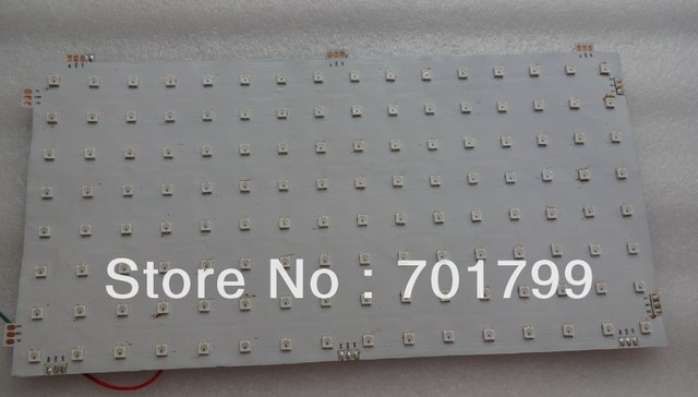P20mm WS2812 LED digital flexible panel light;8*16pixels: size:16cm*32cm;DC5V input