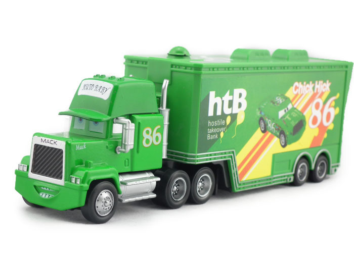 Pixar Cars CHICK HICK #86 Green MACK Superliner Truck UNCLE MACK Diecast Metal Toy Cars For Kids Children(China (Mainland))