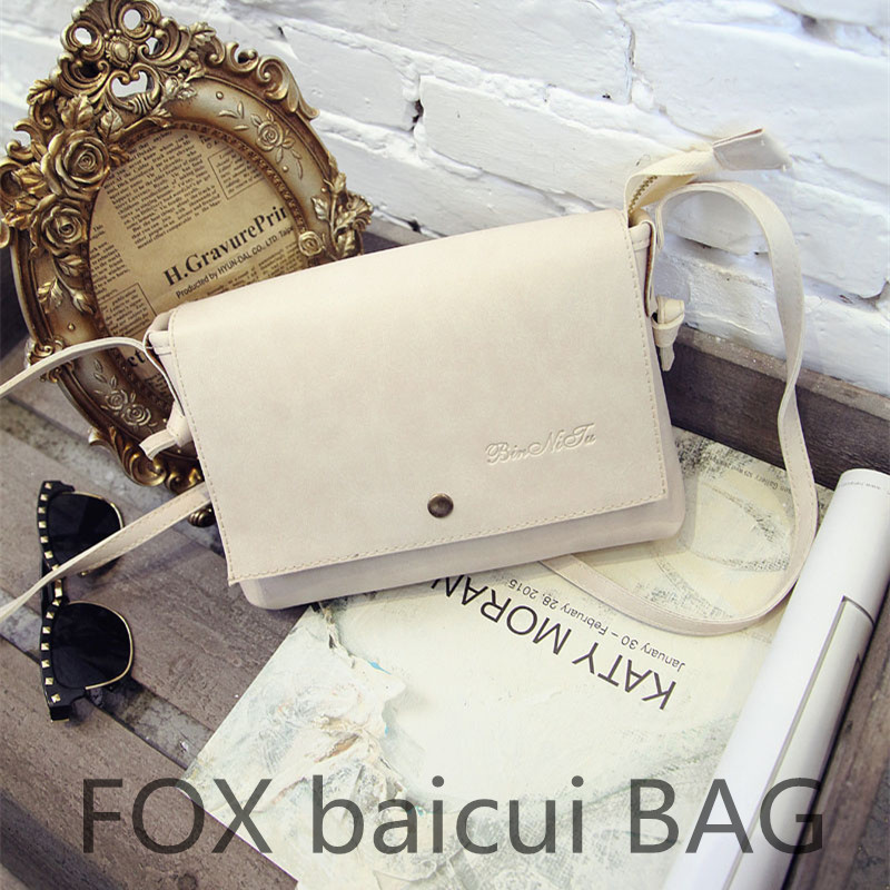 New 2015 Small Vintage Women Messenger Bag Solid Color PU Leather Handbag Flap Bolsa Feminina Bolsos Mujer Crossbody Hand Bag<br>