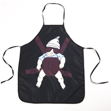Funny Daddy Apron Kitchen Cooking Party Aprons Lovely Baby Pattern Bibs Women Men - Mi Rui store