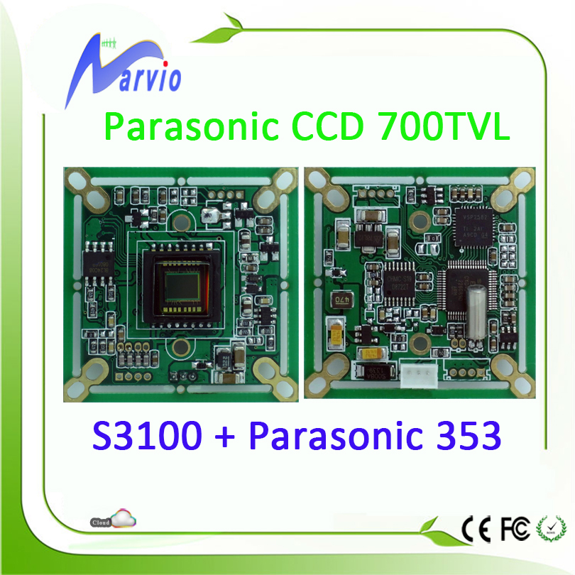 700TVL Analog Parasonic CCD Sensor CCTV Security Module S3100 + 353 Good Night Vision Effection, True color, no need ircut(China (Mainland))