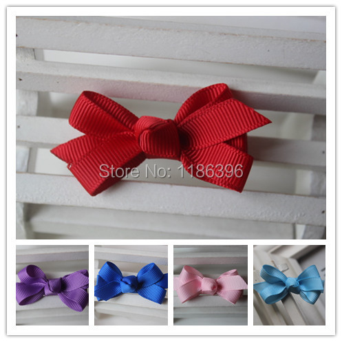 New 36pcs/lot Fashion Baby Girl Hair Bow with Clip High Quality Ribbon Lined Alligator Perfect for Your Children Hairpin(China (Mainland))