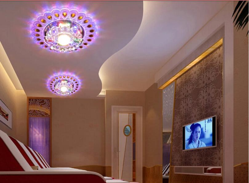 Здесь можно купить  3W modern led ceiling lights for living room crystal ceiling light led lamp AC220V - AC240V luminarias lustres de sala abajur  Свет и освещение