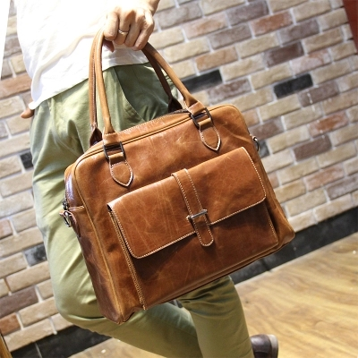 Original design of preppy handbag business one shoulder oblique cross wind bag postman bag mens briefcase<br><br>Aliexpress