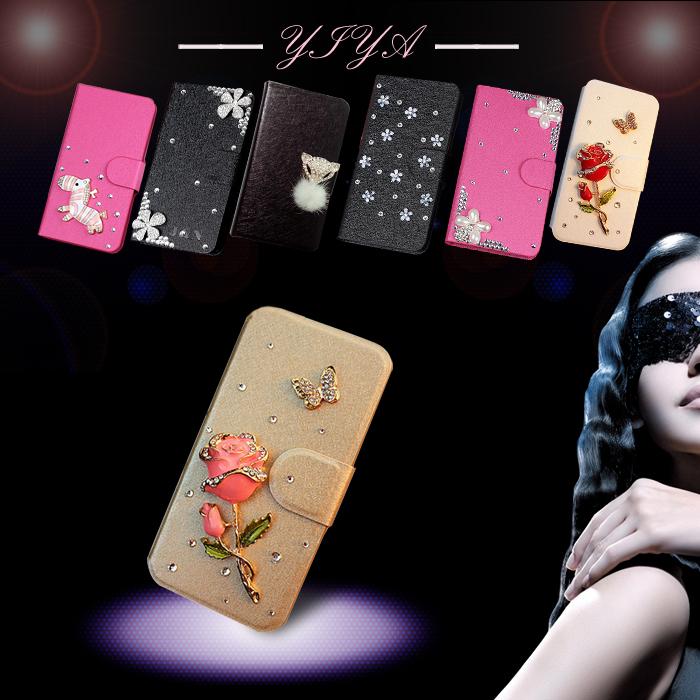 Various Flower Luxury flip phone case cover For Motorola Moto X+1 XT1097 Bling Diamond holder card socket(China (Mainland))