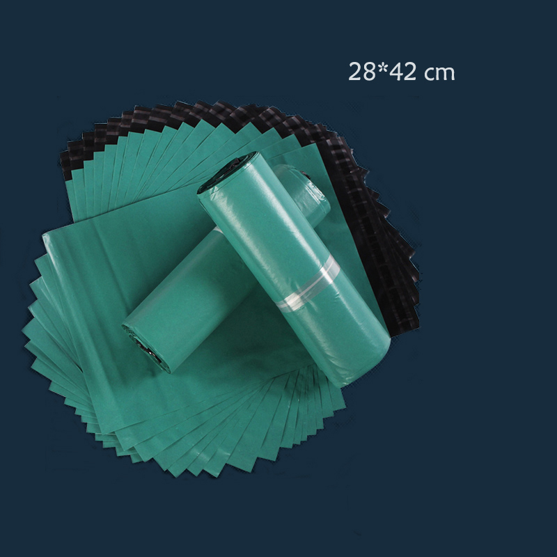 50pcs/lot 28cm*42 cm Poly Mailer,Mailing Bags,Green Courier Bag,Express Bags,Express Envelope, Plastic Mailers Bag Green #0006(China (Mainland))