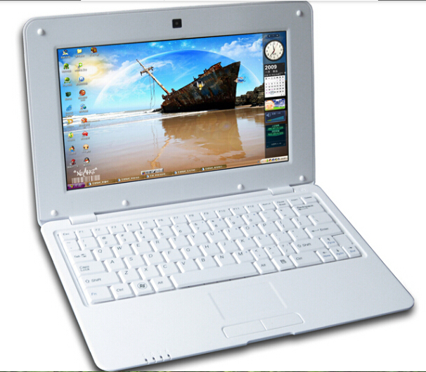 10inch Mini Laptop Via 8880 Dual Core Android 4.4 Notebook Computer 512MB 4G webacm HDMI netbook laptop kids gift laptop(China (Mainland))