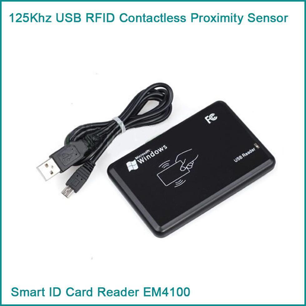 Гаджет  125Khz USB RFID Contactless Proximity Sensor Smart ID Card Reader EM4100 None Электронные компоненты и материалы