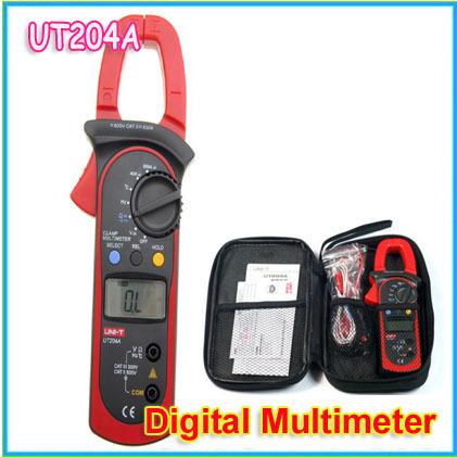Register Shipping UNI-T UNIT UT204A Digital Handheld Clamp Multimeter Tester DMM Voltmeter AC DC(China (Mainland))