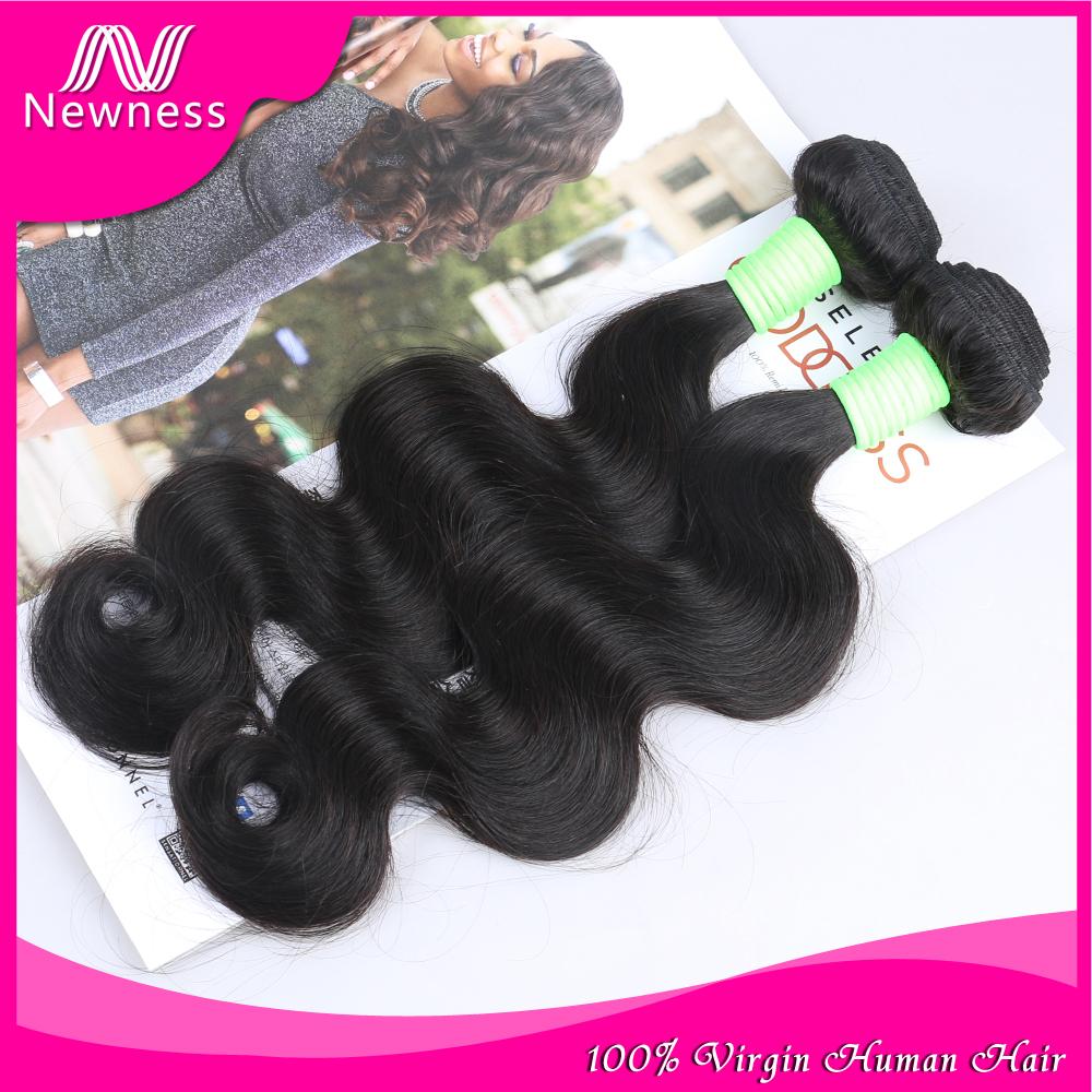 Newness Unprocessed 6A Brazilian Virgin Hair Body Wave Human Hair Weave brazilian Body Wave Sell human Hair Extension 3pcs lot(China (Mainland))