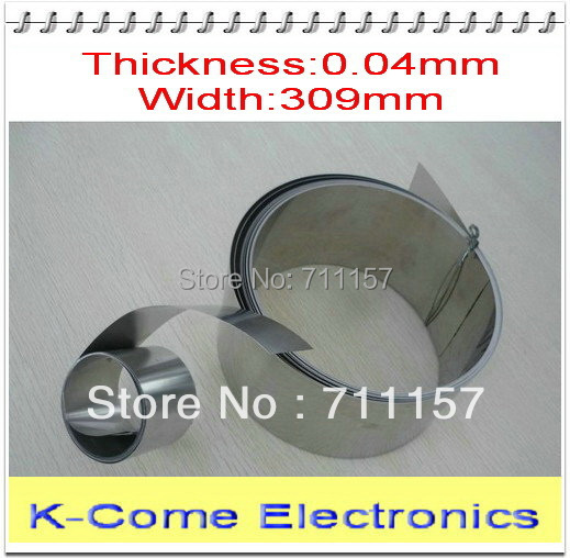 0.04mm Thickness 309mm Width 5M/lot Model 304 Stainless Steel Sheet Plate Stainless Steel Foil Roll The Thin Tape Free Shipping(China (Mainland))