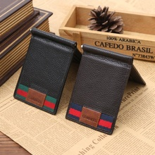 Quality Guarantee Money clip for Cash Holder  solid mens wallet  genuine leather  wallet clips with card ID Case for money