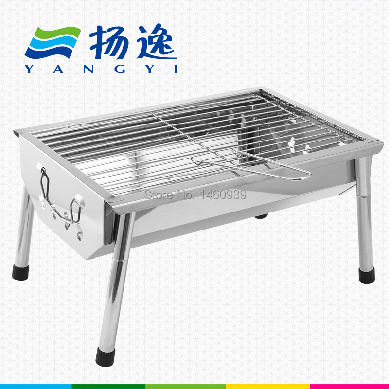 Bbq outdoor bbq grill outdoor portable charcoal BBQ grill household thickening folding rack household(China (Mainland))