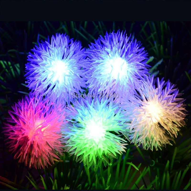 5m 50 LED Bulbs snowball RGB String Lights Copper Wire 220V Wedding Party holiday outdoor decoration Christmas garland - Yama Electronics Co., Ltd. store