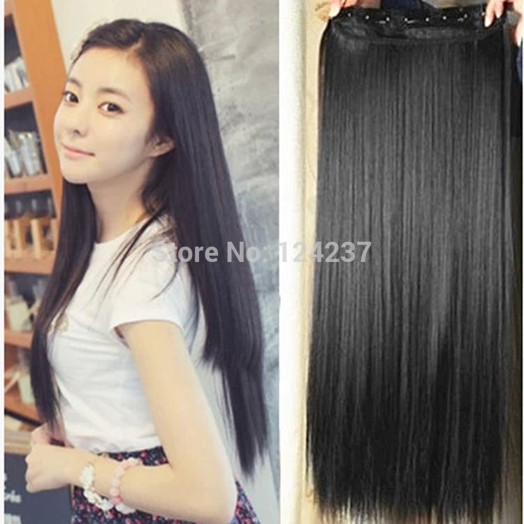 60 cm harajuku natural hair extension costume long straight brown black heat resistant synthetic. Black Bedroom Furniture Sets. Home Design Ideas