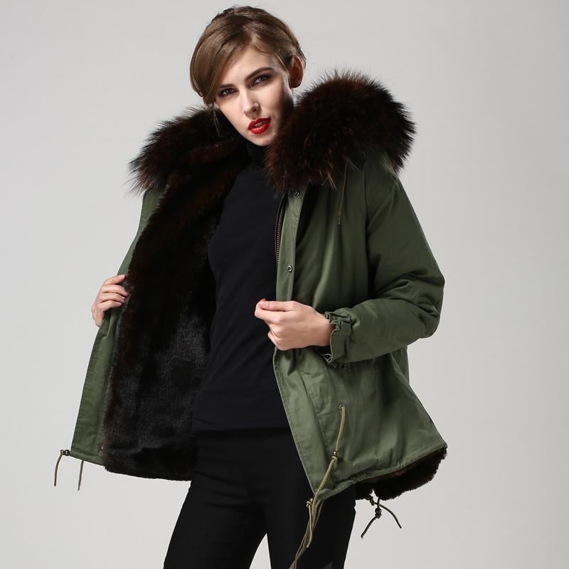 2016 Wholesale new long fashion style belt brown womens winter fur coats(China (Mainland))